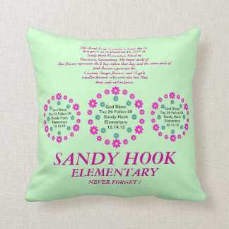 Sandy Hook Elementary Never Forget ! Throw Pillow