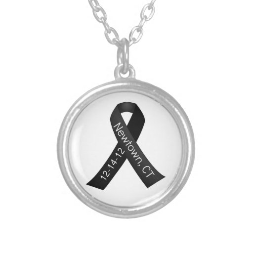 Sandy Hook Elementary Newtown Shooting Memorial Round Pendant Necklace