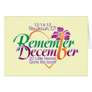Sandy Hook Elementary-Remember December Postcard Stationery Note Card