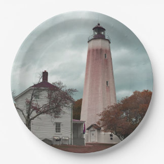 Sandy Hook Lighthouse 9 Inch Paper Plate
