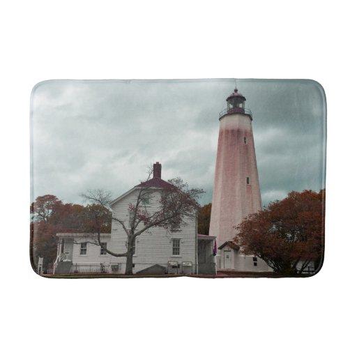 Sandy Hook Lighthouse Bathroom Mat Zazzle