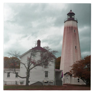 Sandy Hook Lighthouse Ceramic Tile