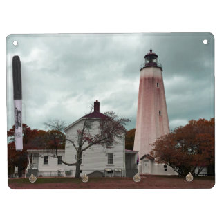 Sandy Hook Lighthouse Dry Erase Board With Keychain Holder