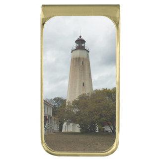 Sandy Hook Lighthouse Gold Finish Money Clip