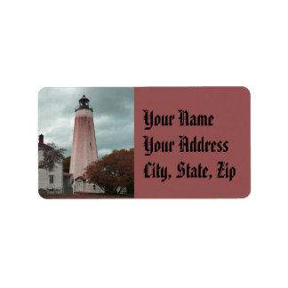 Sandy Hook Lighthouse Label