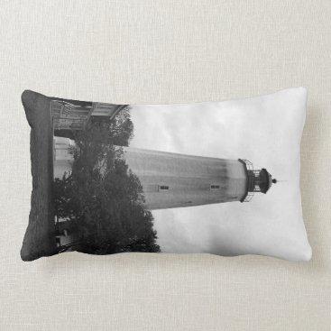 Ocean Themed Sandy Hook Lighthouse Pillow