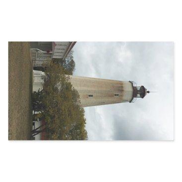 Ocean Themed Sandy Hook Lighthouse Rectangular Sticker