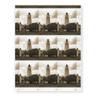 Sandy Hook Lighthouse Temporary Tattoos