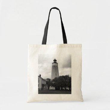Ocean Themed Sandy Hook Lighthouse Tote Bag