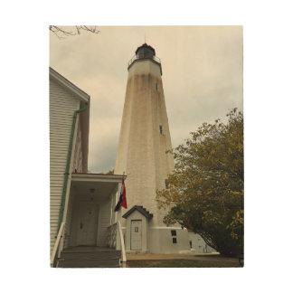 Sandy Hook Lighthouse Wood Print