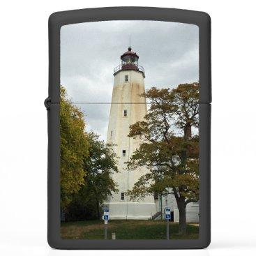 Beach Themed Sandy Hook Lighthouse Zippo Lighter