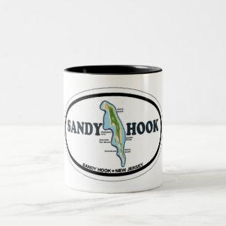 Sandy Hook. Two-Tone Coffee Mug