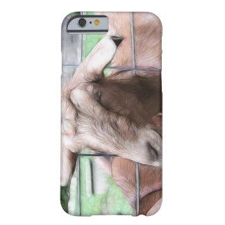 Sandy la cabra en la puerta funda para iPhone 6 barely there