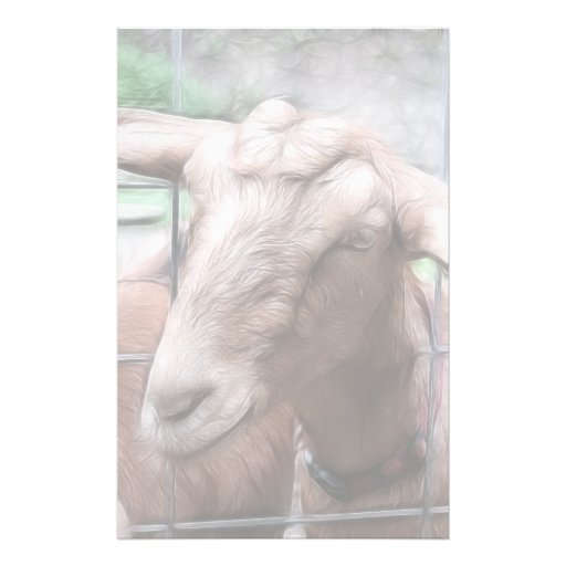 Sandy la cabra en la puerta personalized stationery
