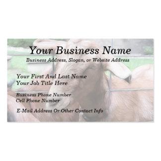 Sandy la cabra en la puerta tarjetas de visita