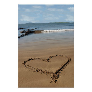 sandy love heart poster