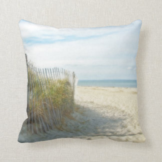 Sandy Neck Beach, Cape Cod Throw Pillows