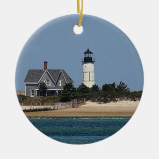 Sandy Neck Lighthouse Ceramic Ornament