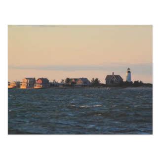 Sandy Neck Lighthouse from Barnstable Harbor Postcard