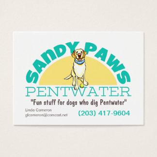 Sandy Paws Pet Business Logo Business Card