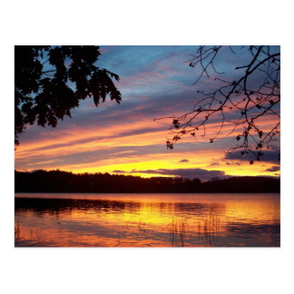 sandy pond sunrise postcard