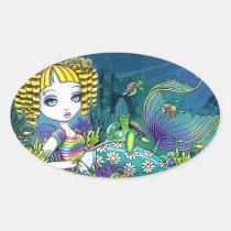 sandy, rainbow, cute, mermaid, blond, myka, jelina, fairy, faery, faerie, fae, fairies, pixie, fantasy, art, mermen, mermaids, Sticker with custom graphic design