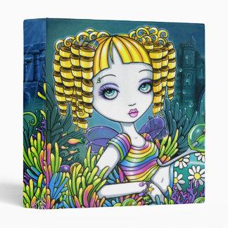"""""""Sandy"""" Rainbow Sea Turtle Mermaid Art Binder"""