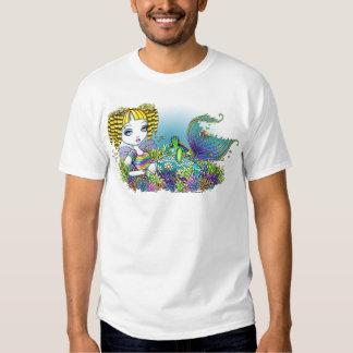 """""""Sandy"""" Rainbow Sea Turtle Mermaid Art Top"""