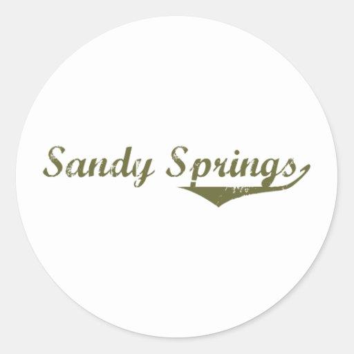 Sandy Springs  Revolution t shirts Classic Round Sticker