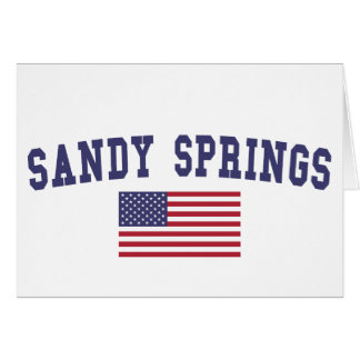 Sandy Springs US Flag Card