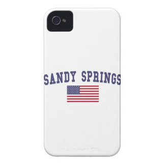 Sandy Springs US Flag Case-Mate iPhone 4 Cases