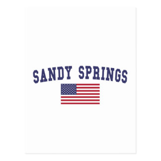Sandy Springs US Flag Postcard