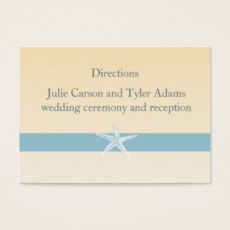Sandy Starfish Direction Card