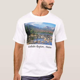 Sandy Stream Pond and Moose, Katahdin Region, M... T-Shirt
