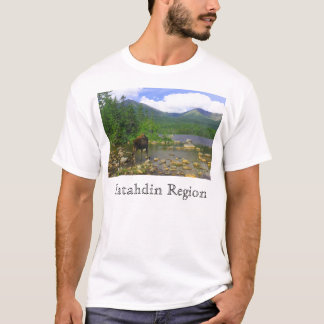 Sandy Stream Pond moose, Katahdin Region T-Shirt
