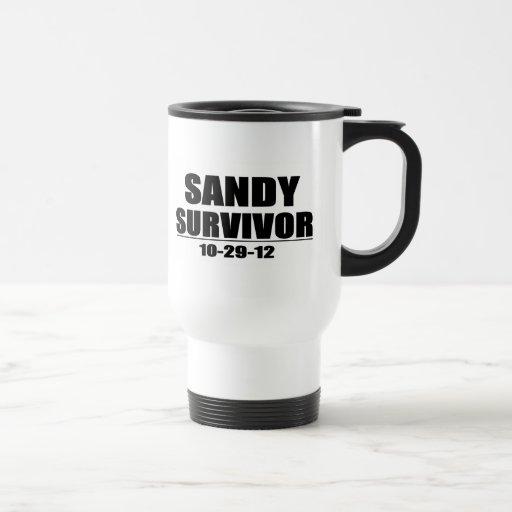 Sandy Survivor 15 Oz Stainless Steel Travel Mug