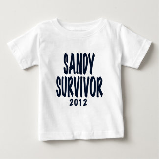 SANDY SURVIVOR 2012, black,Sandy survivor gifts Baby T-Shirt