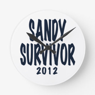 SANDY SURVIVOR 2012, black,Sandy survivor gifts Wall Clock