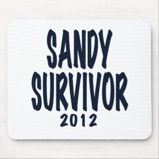 SANDY SURVIVOR 2012, black,Sandy survivor gifts Mouse Pads