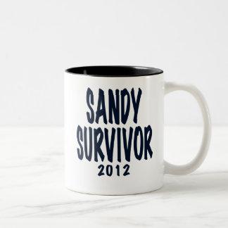 SANDY SURVIVOR 2012, black,Sandy survivor gifts Mugs