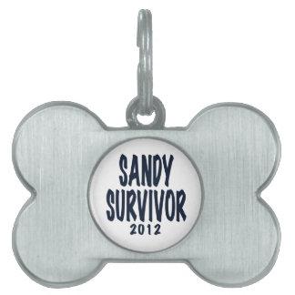 SANDY SURVIVOR 2012, black,Sandy survivor gifts Pet Name Tag