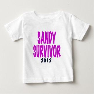 SANDY SURVIVOR 2012 chartreus Sandy survivor gifts Baby T-Shirt