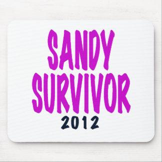 SANDY SURVIVOR 2012 chartreus Sandy survivor gifts Mousepad