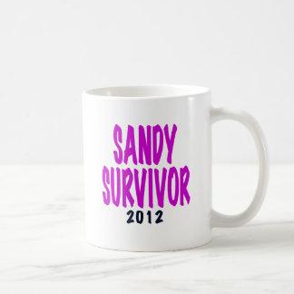 SANDY SURVIVOR 2012 chartreus Sandy survivor gifts Mugs