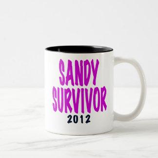 SANDY SURVIVOR 2012 chartreus Sandy survivor gifts Mug