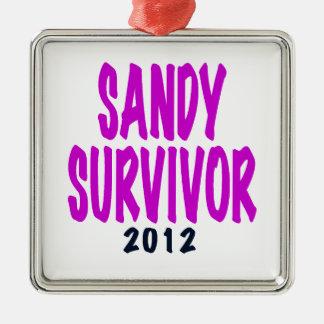 SANDY SURVIVOR 2012 chartreus Sandy survivor gifts Christmas Tree Ornament