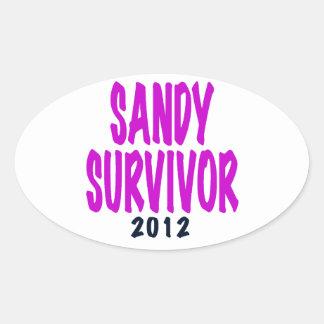 SANDY SURVIVOR 2012 chartreus Sandy survivor gifts Oval Sticker
