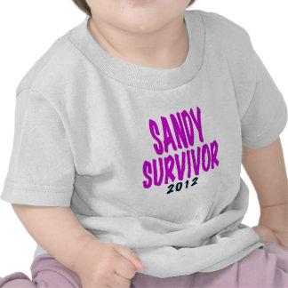 SANDY SURVIVOR 2012 chartreus Sandy survivor gifts Tee Shirt