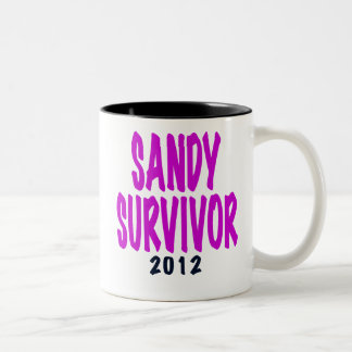 SANDY SURVIVOR 2012 chartreus Sandy survivor gifts Two-Tone Coffee Mug