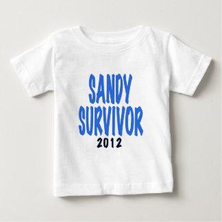 SANDY SURVIVOR 2012, lt. blue, Sandy survivor gift Baby T-Shirt